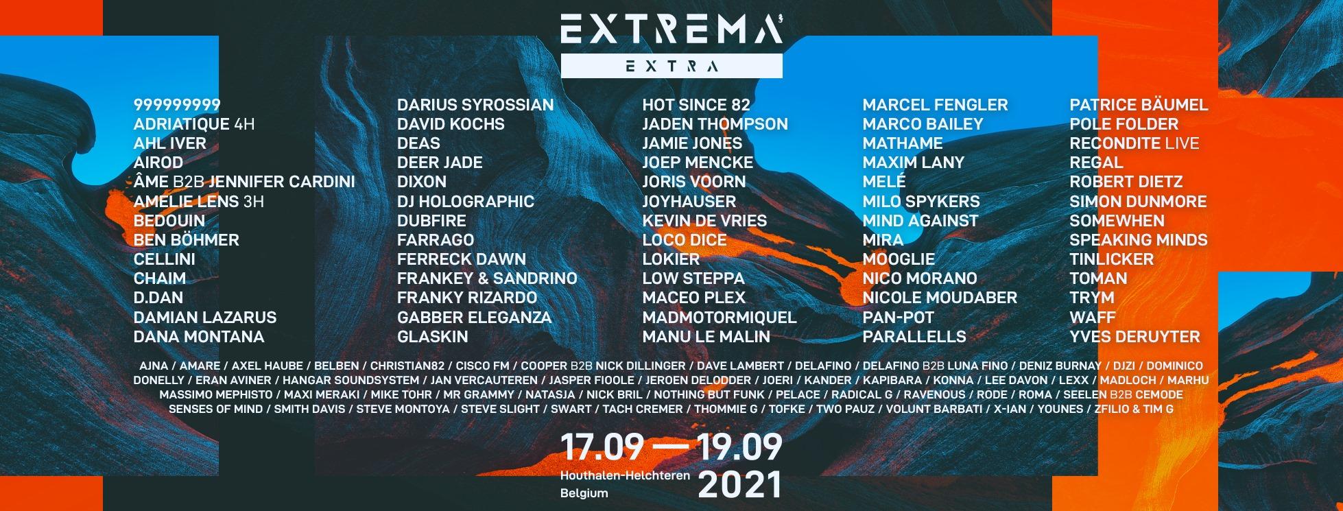 Extrema Extra Festival Belgium September 2021