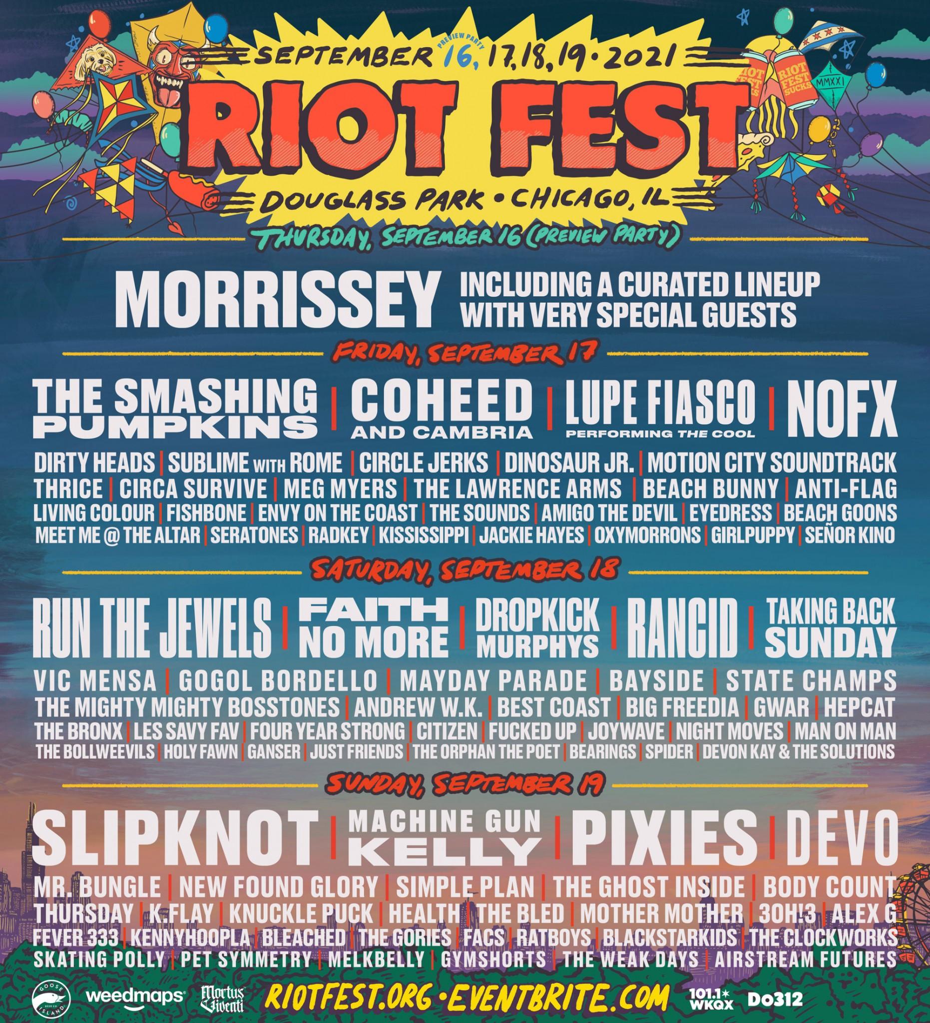Riot Music Festival Chicago 2021