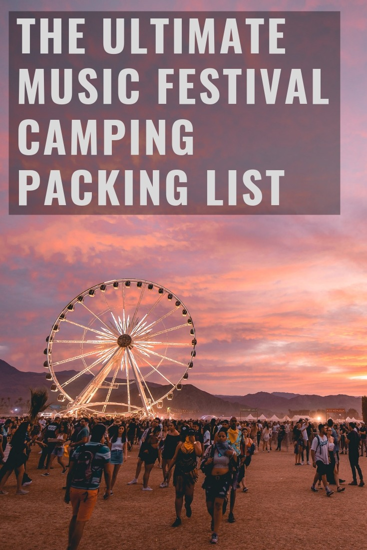 Camping Music Festival Check List Essentials