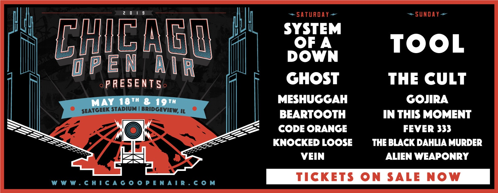 Chicago Open Air Festivals Metal 2019