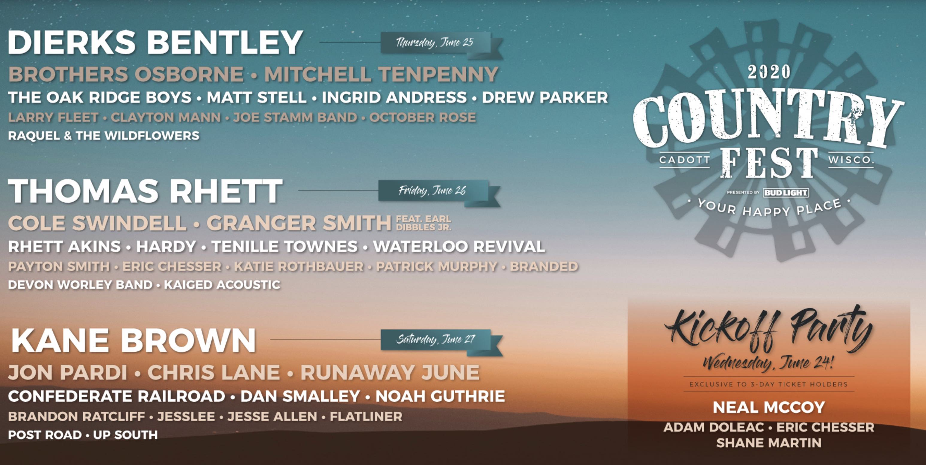 Country Fest 2020 - Best Country Festivals