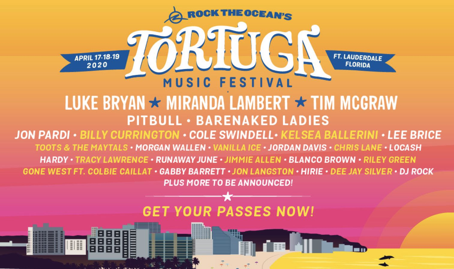 Tortuga - Best USA Country Festivals 2020