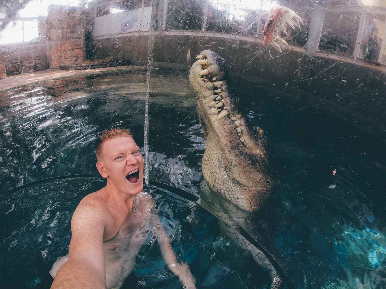 Cage of Death Crocosaurus Cove Darwin