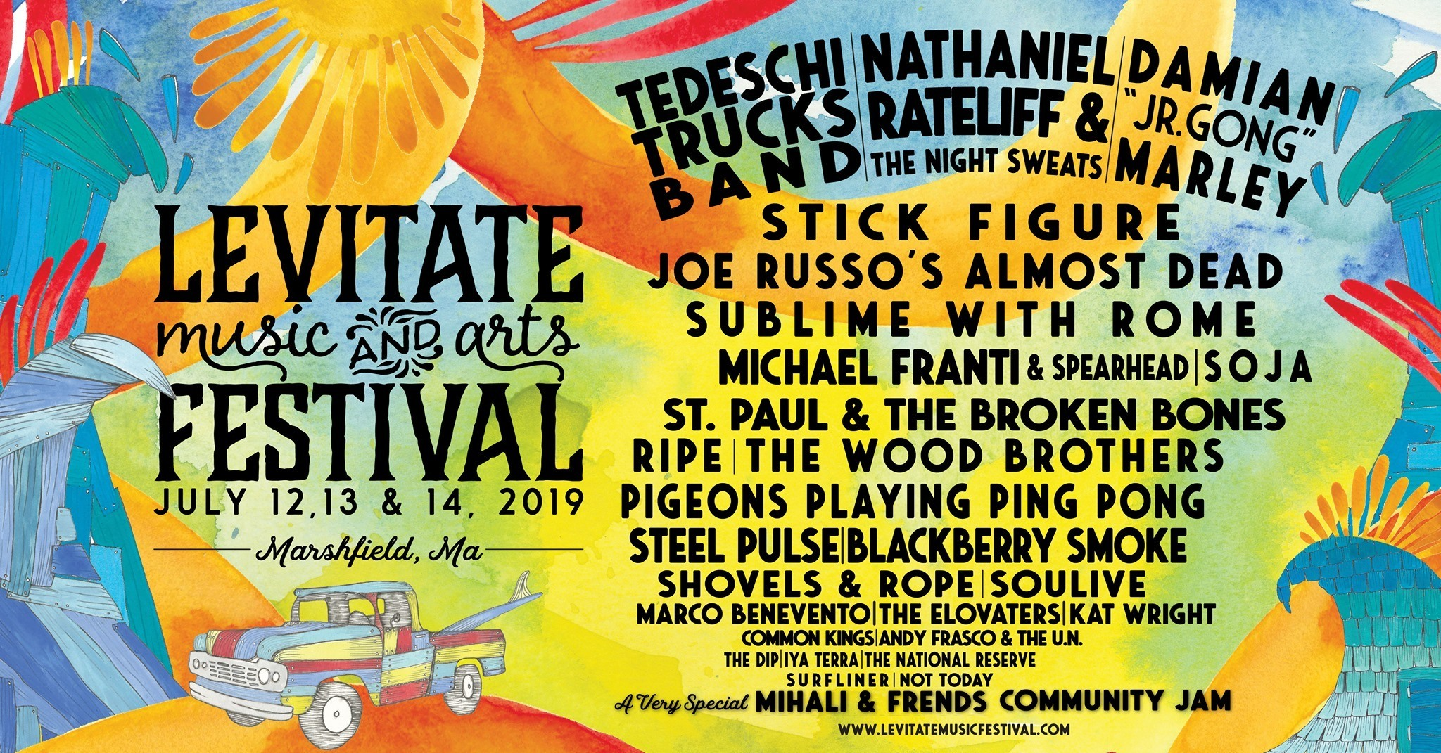 Levitate Music Festivals Boston and Massachusetts