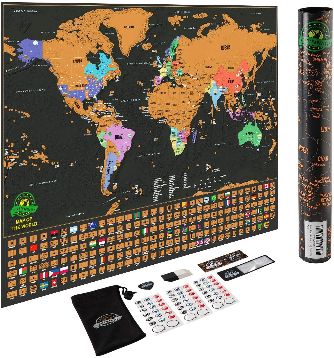 Scratch Off Travel Map - Best Travel Gifts For Men 2019