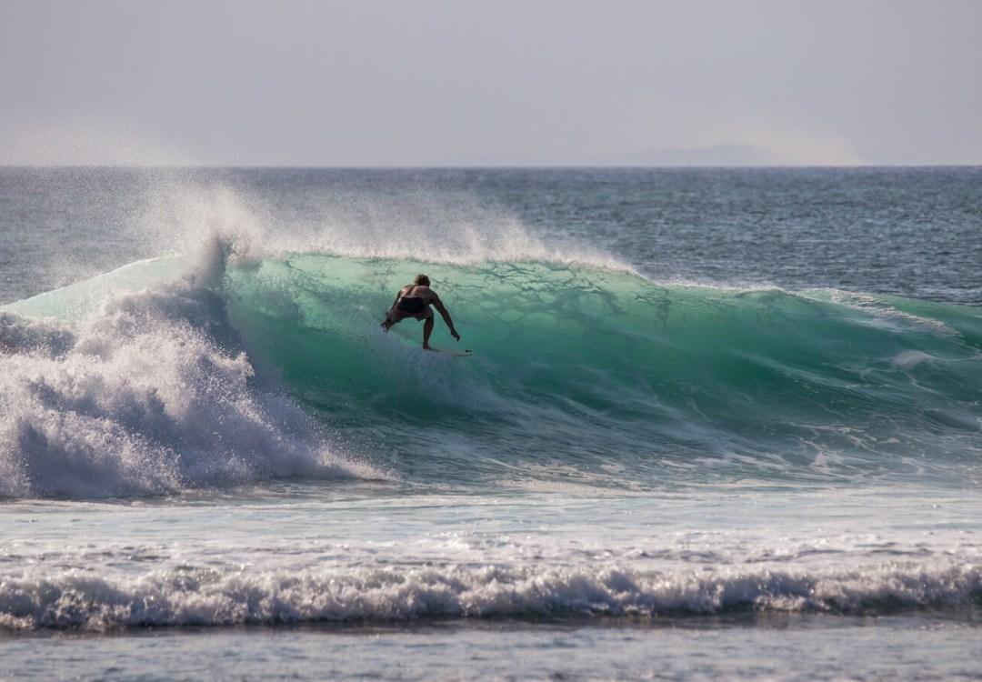Surfing in Uluwatu