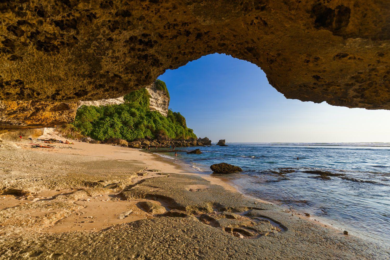 Suluban beach in Uluwatu Bali - Indonesia