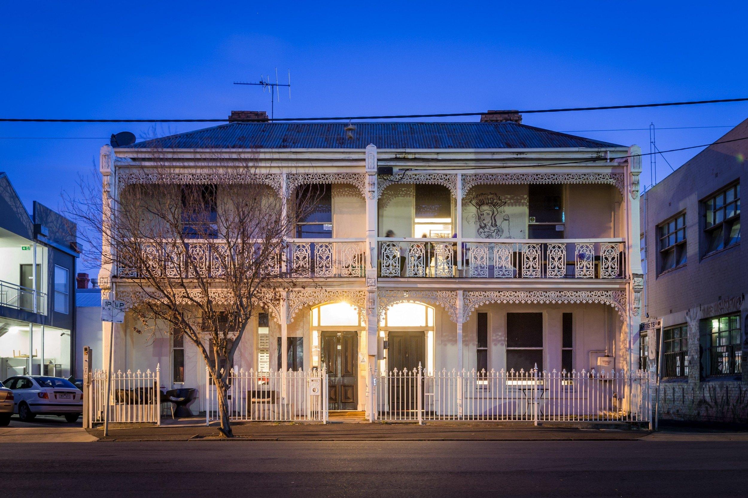 Back of Chapel Backpacker Hostel Melbourne