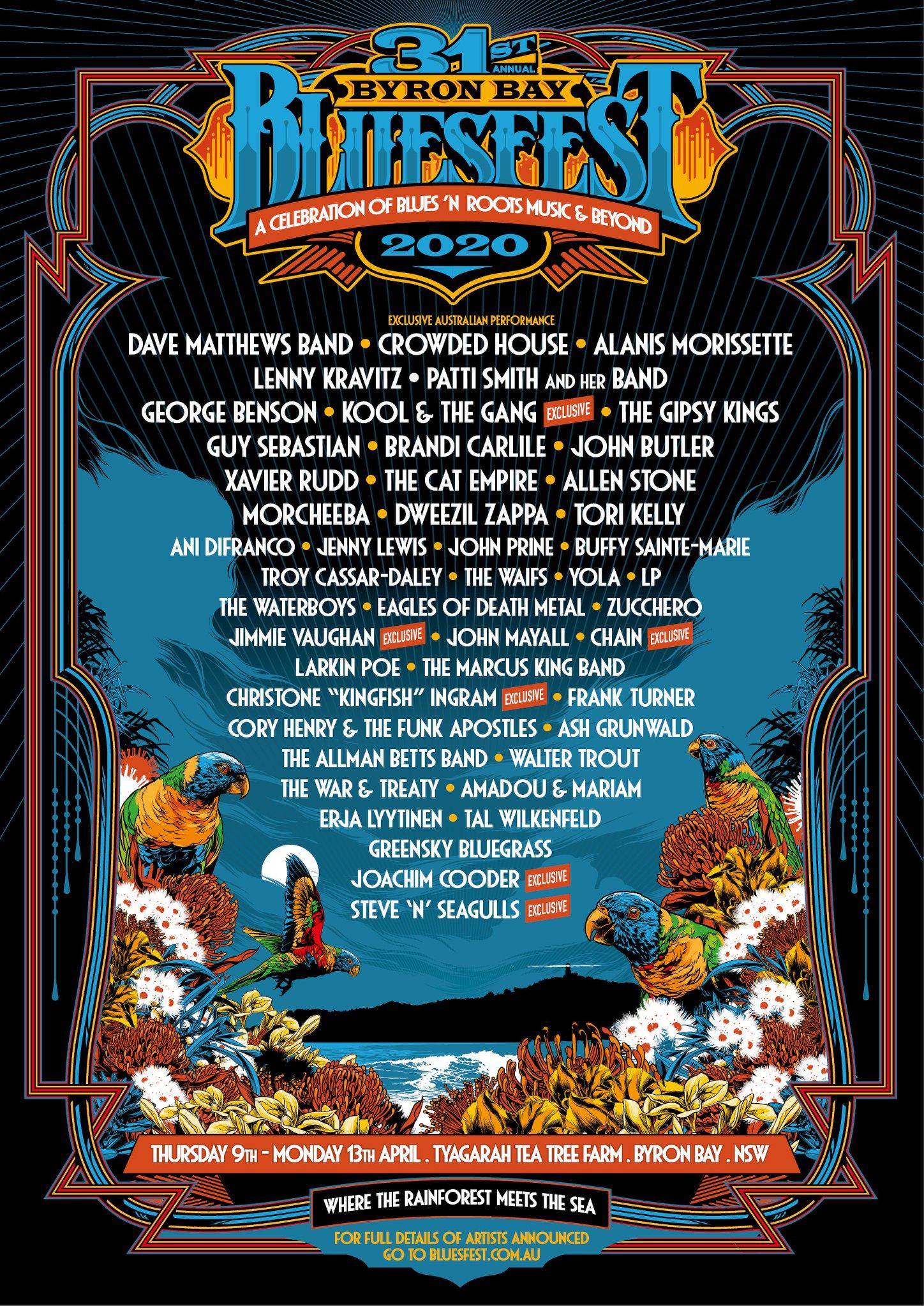 Bluesfest Byron Bay 2020 Line-Up - Australia Festivals