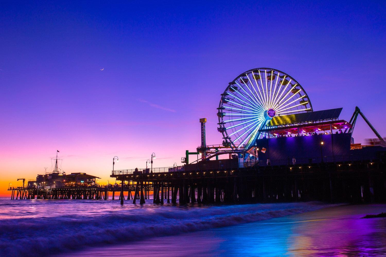 Santa Monica Pier - Los Angeles to San Diego Drive