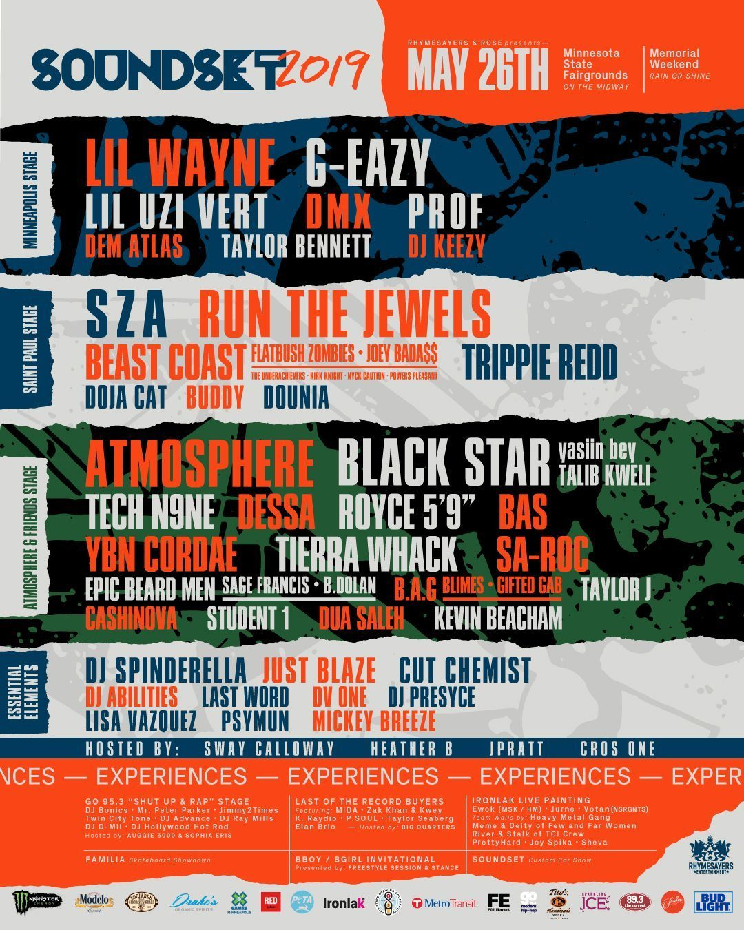 Soundset Hip Hop Festival - 2019 Lineup
