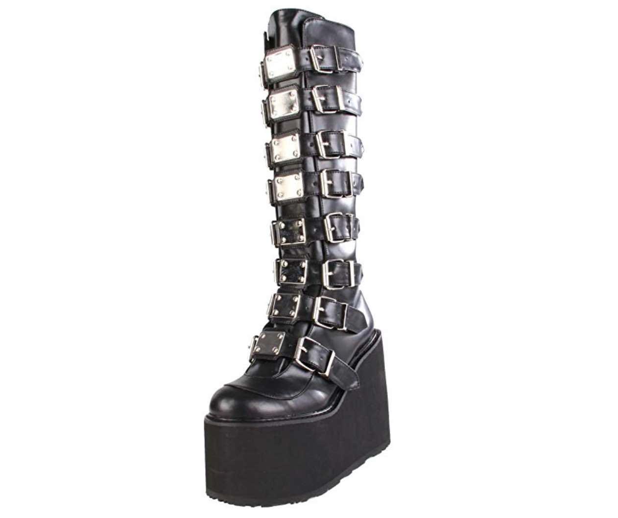 Pleaser Women's Swing-815 Knee-High Boot - Festival Boots