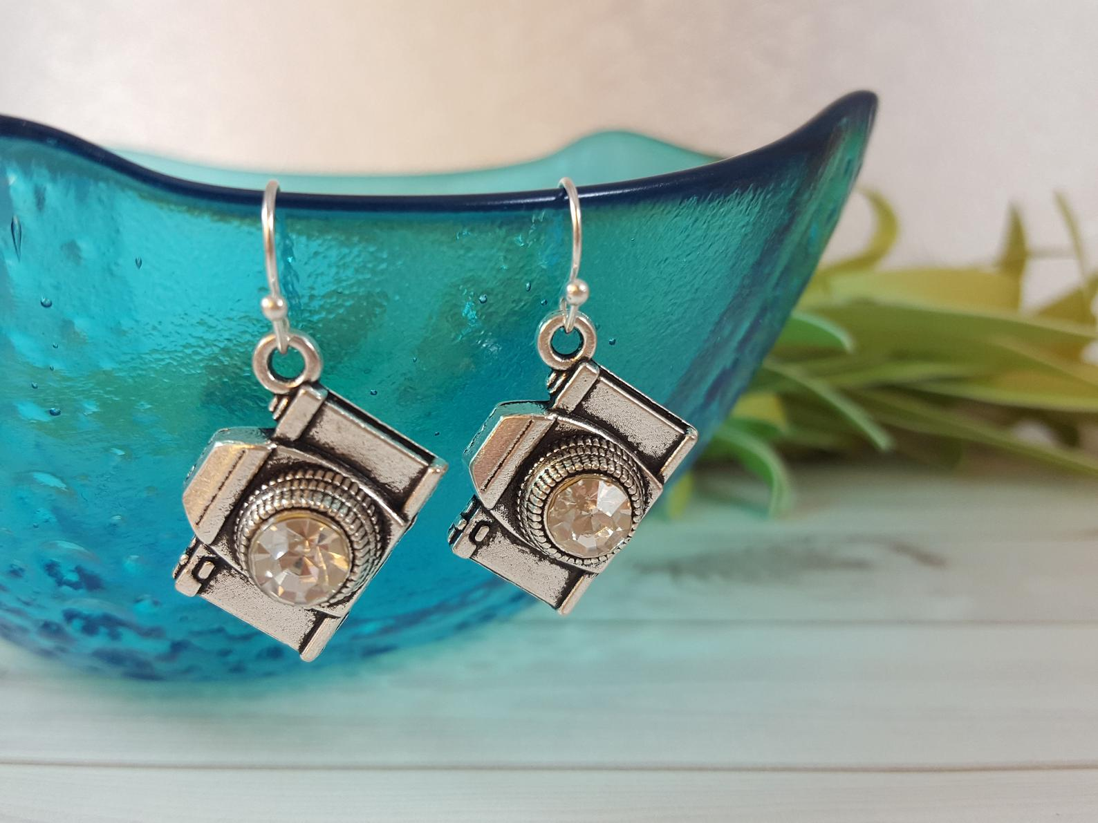 Retro Camera Ear Rings - Unique Gifts for Photographers