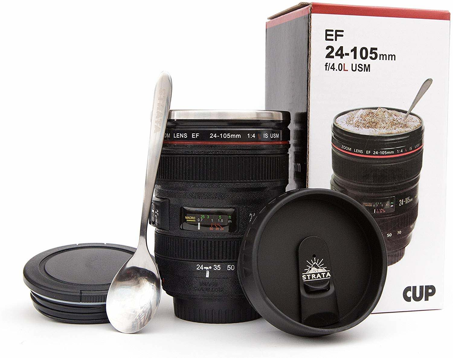 STRATA CUPS Camera Lens Coffee Mug - Best Gifts for Photographers