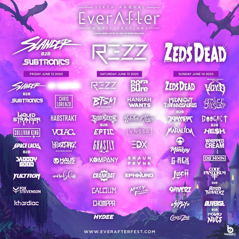Ever After Music Festival Canada 2020 Lineup