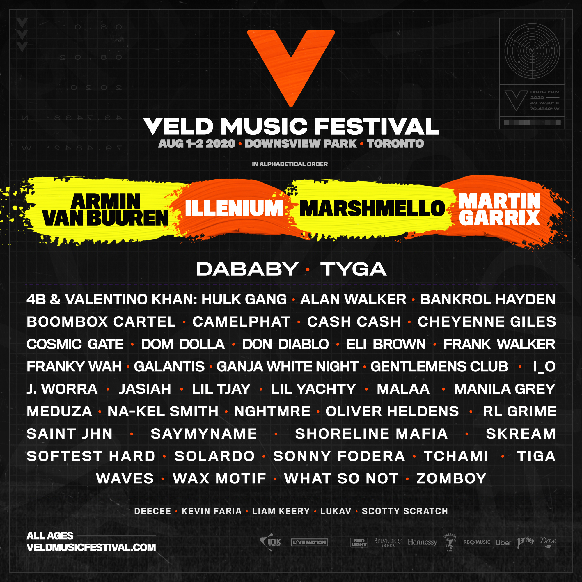 Veld Music Festival 2020 Lineup - Toronto, Canada Music Festivals