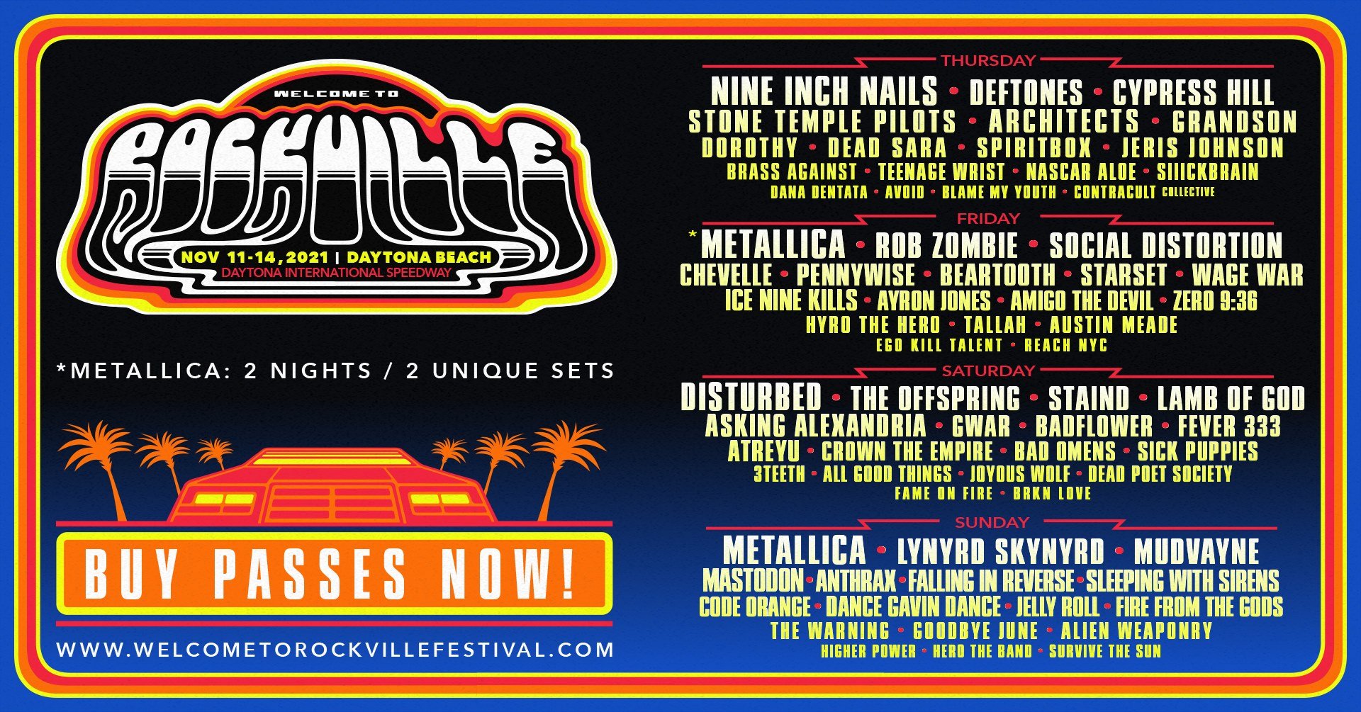Welcome to Rockville 2021 Florida Festivals