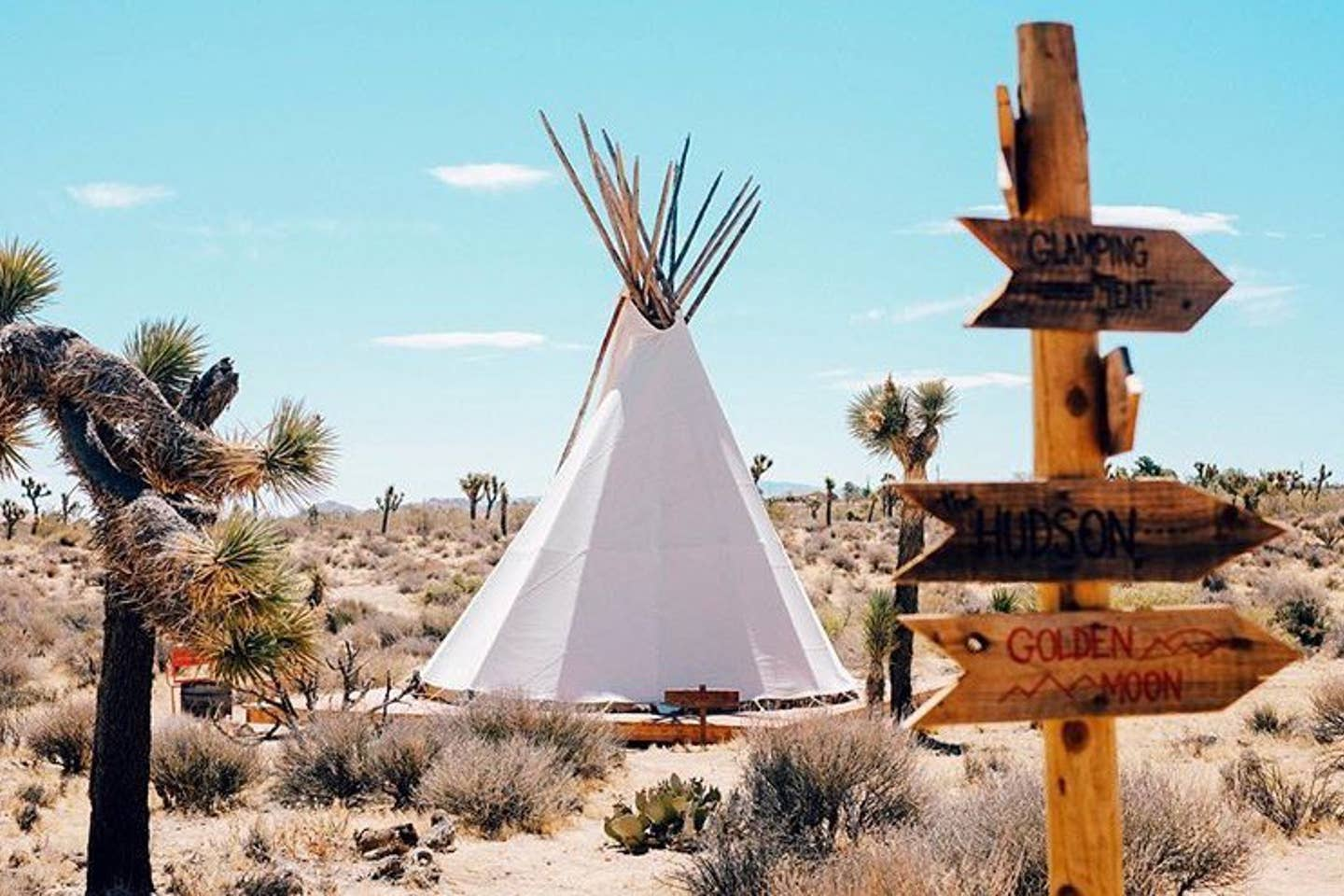 The Rising Sun Tipi at Lazy Sky | Yucca Valley Glamping