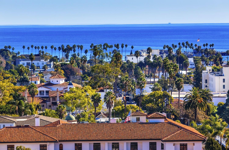 Court House Main Street Pacific Ocean Santa Barbara California - Airbnbs in Santa Barbara