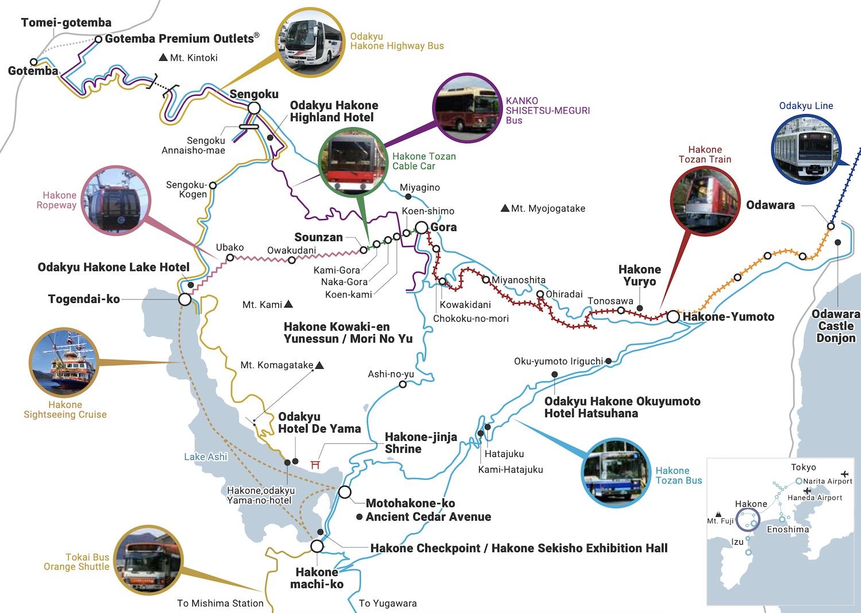 Map of Hakone, Japan