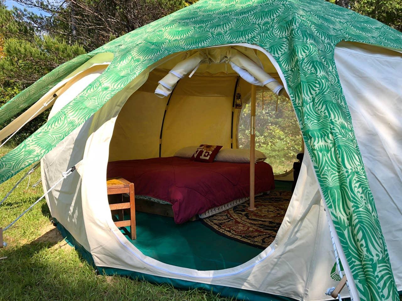 Lotus Bell Tent Glamping Oregon