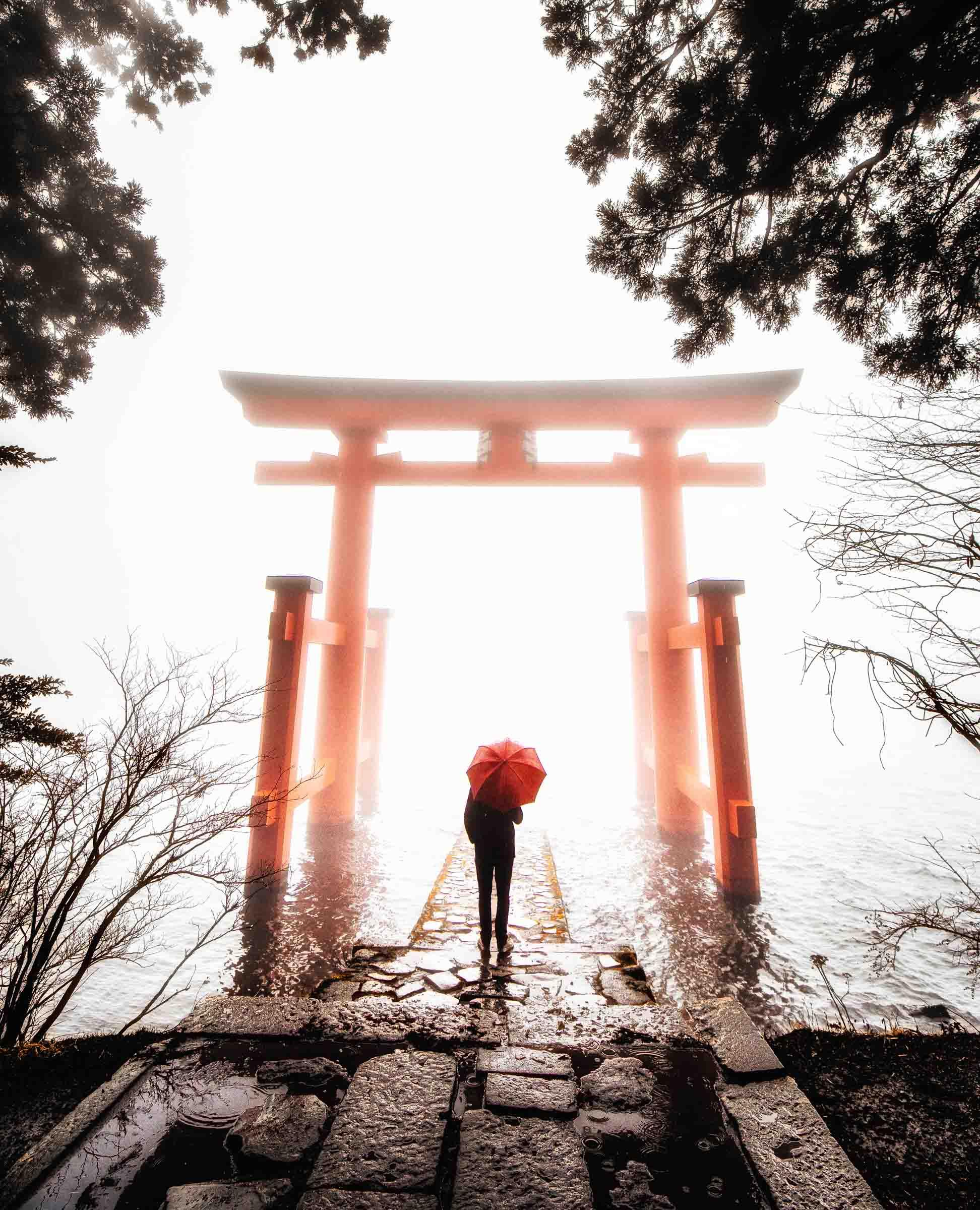 Torii Gate- Hakone Shrine