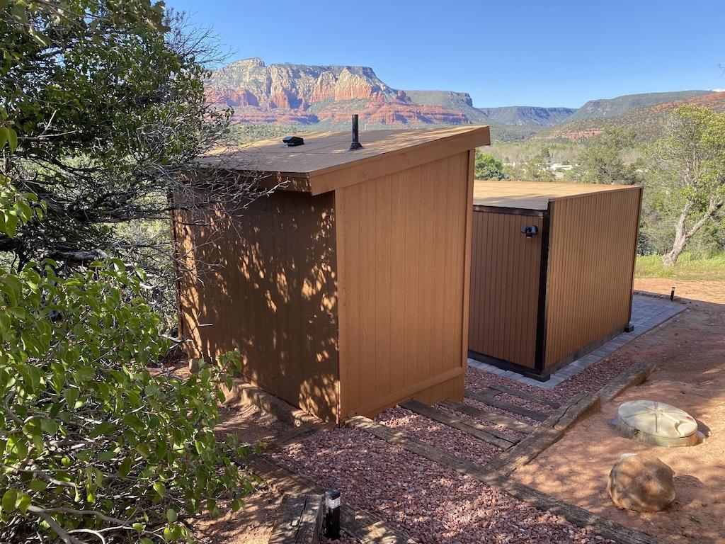 sedona glamping cabin views