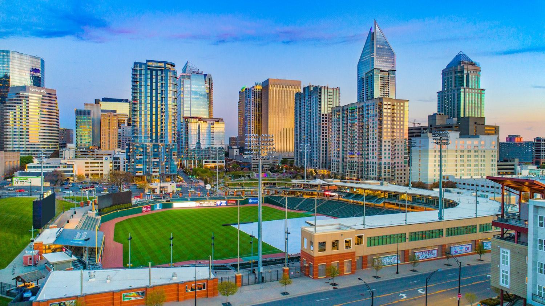 Downtown Charlotte North Carolina Skyline Aerial