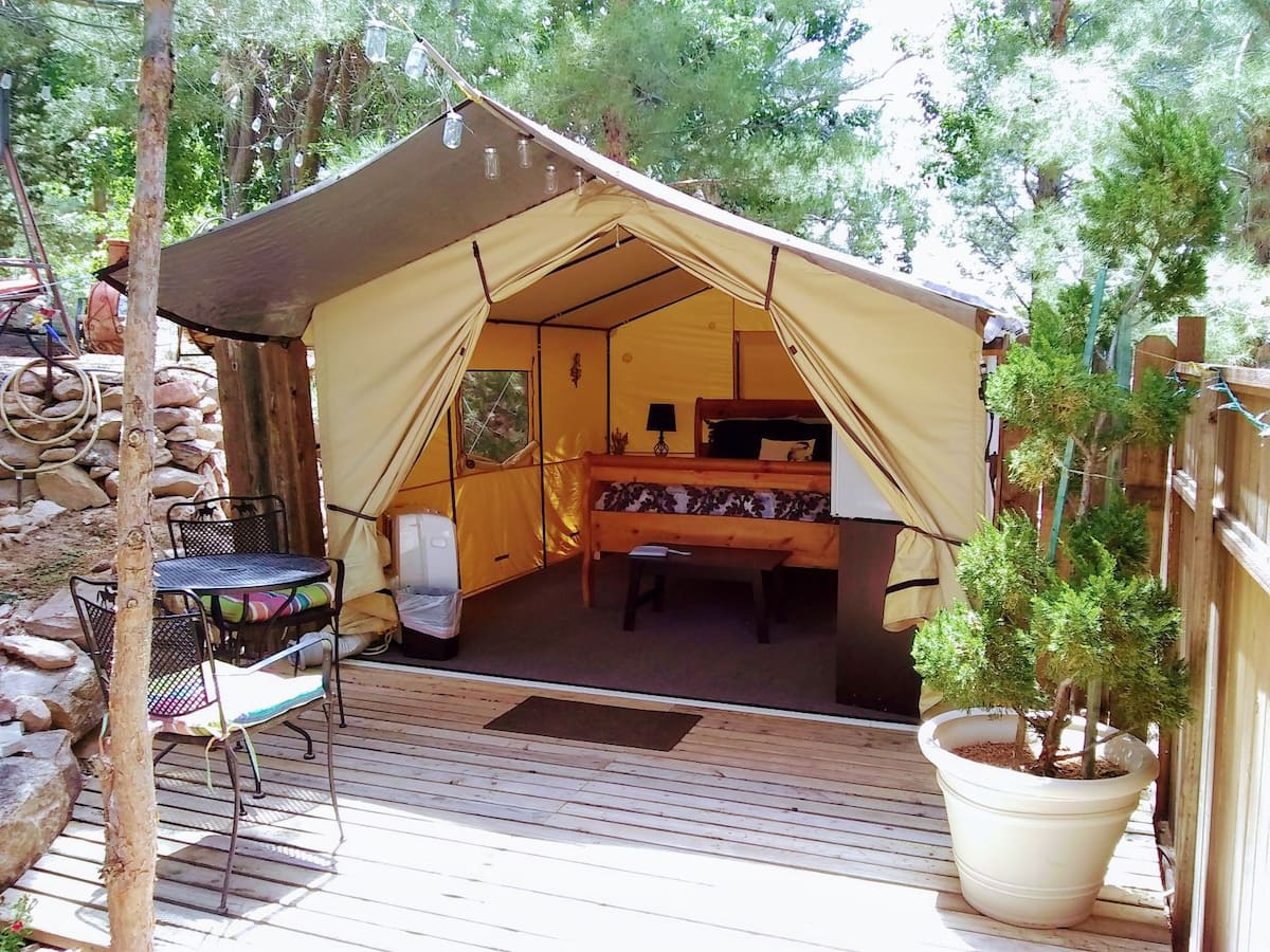 Glamping Tents at Zion West — The Hideaway Airbnb