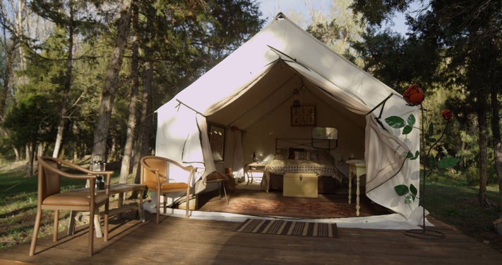 montana glamping tent camping lewis and clark county