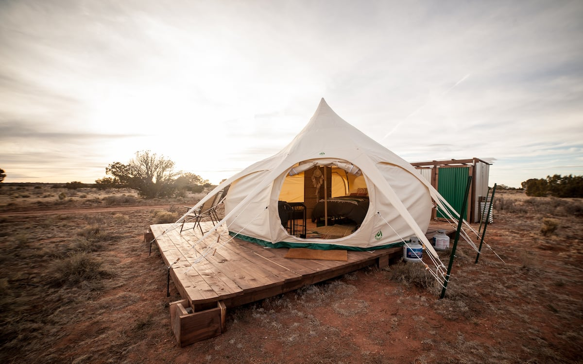 Glamp like a pro in the Belle Yurt - Airbnb Grand Canyon Glamping