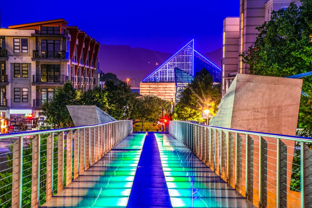 Glass Bridge in Downtown Chattanooga Tennessee TN
