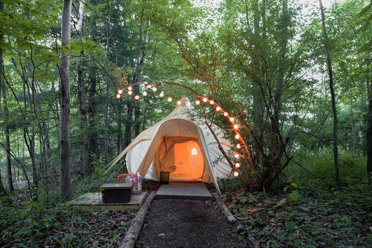 Ohio Glamping Yurt