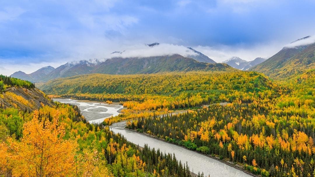 Alaska River and mountains