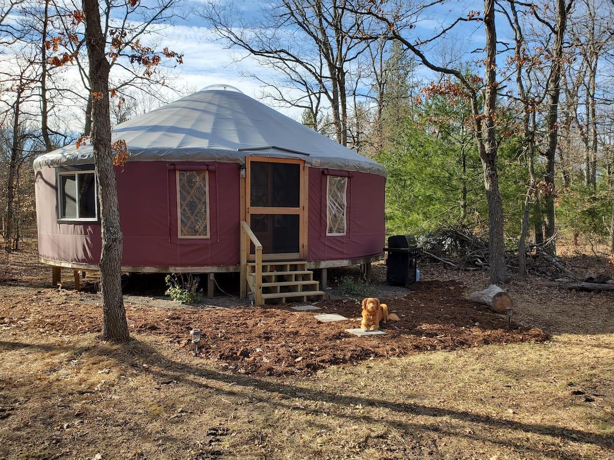 Yurt Glamping in Michigan