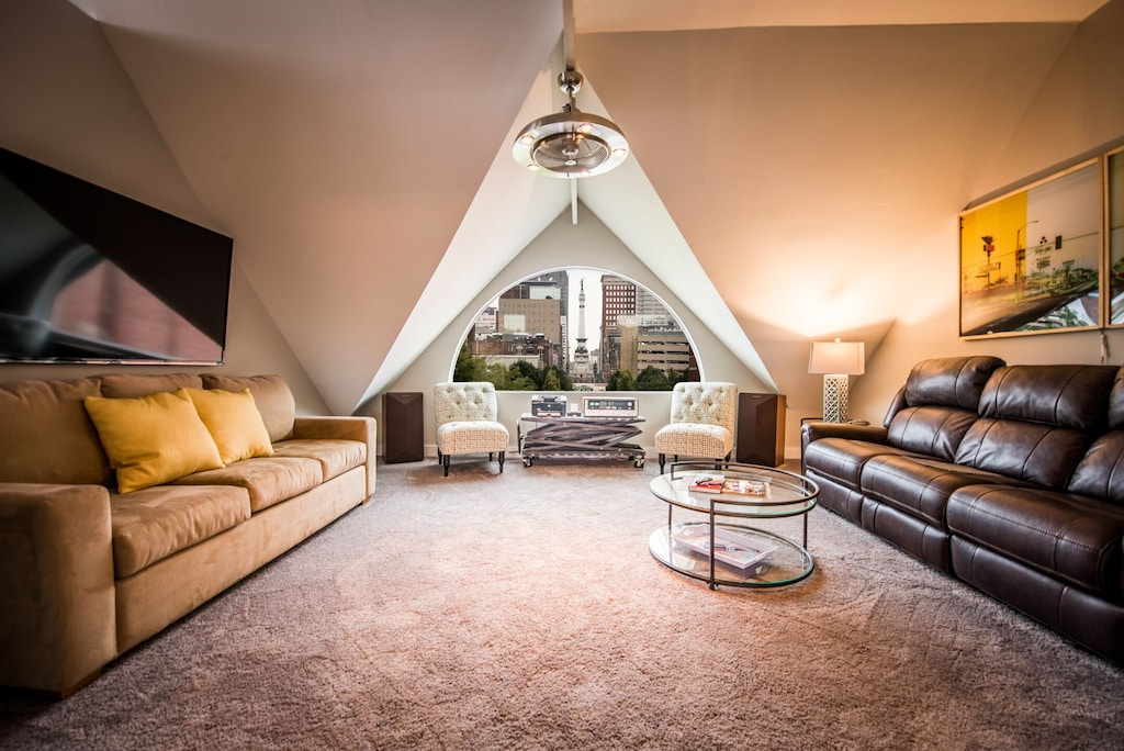 indianapolis downtown luxury penthouse loft rental