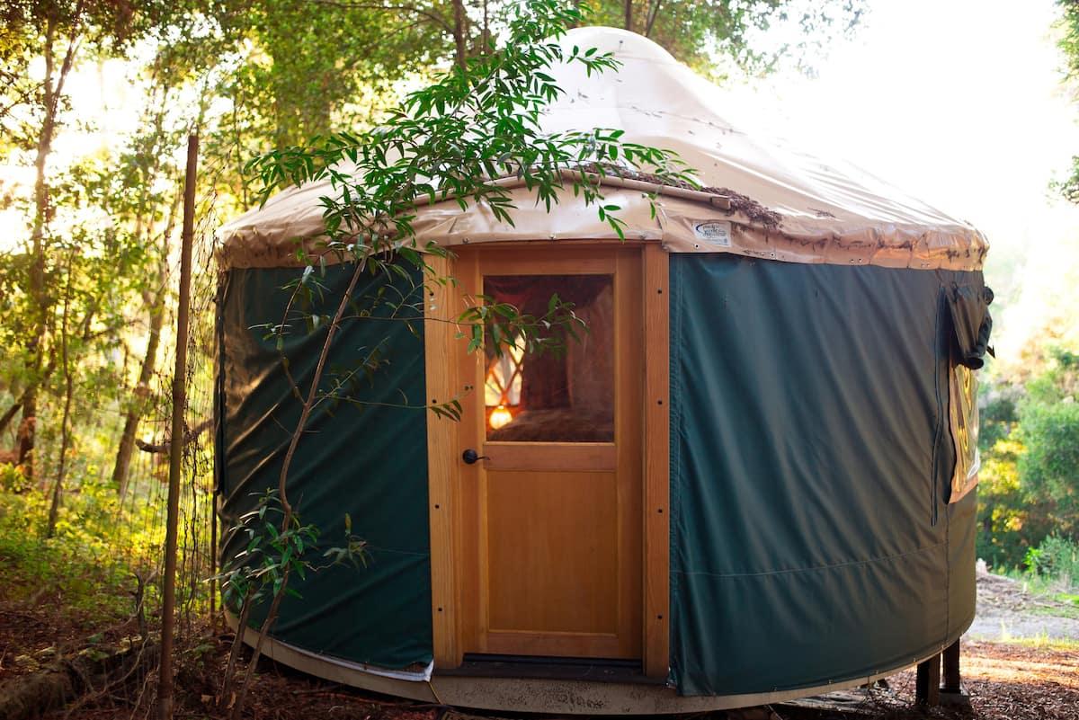 norcal redwood yurt yoga eco retreat aptos mountains