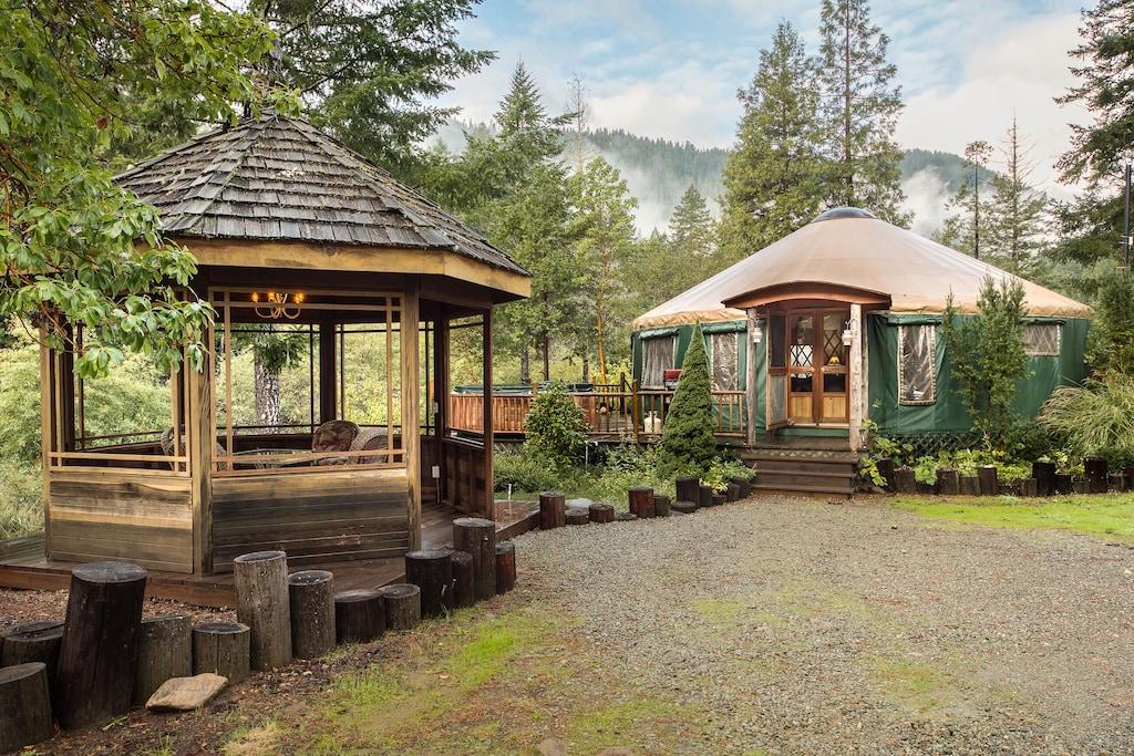 norcal yurt gazebo luxury glamping relax