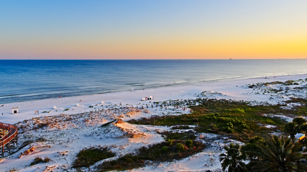Sunset on the Beach in Gulf Shores Al