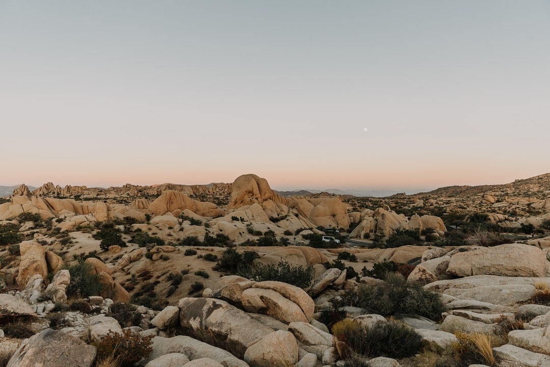 Sunset rocks in Joshua Tree National Park