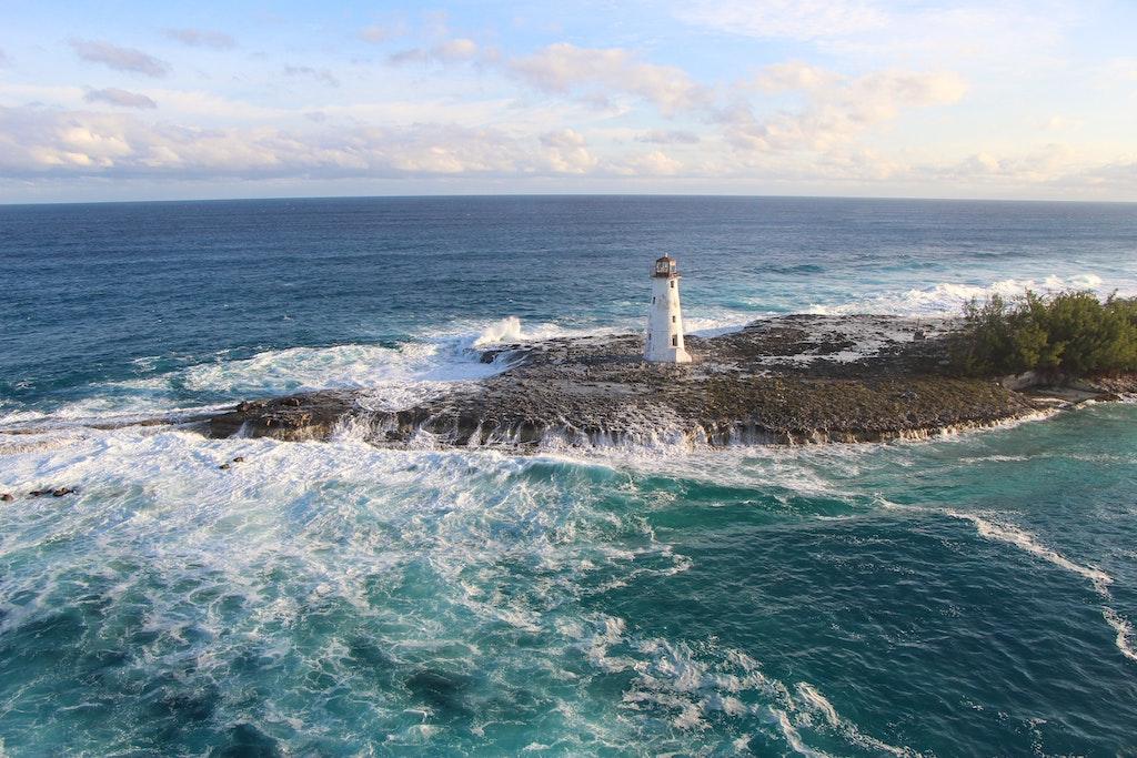 Bahamas Lighthouse at Sea Two