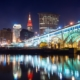 Cleveland Ohio Downtown City Skyline