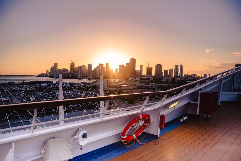 Florida Sunset From Cruise