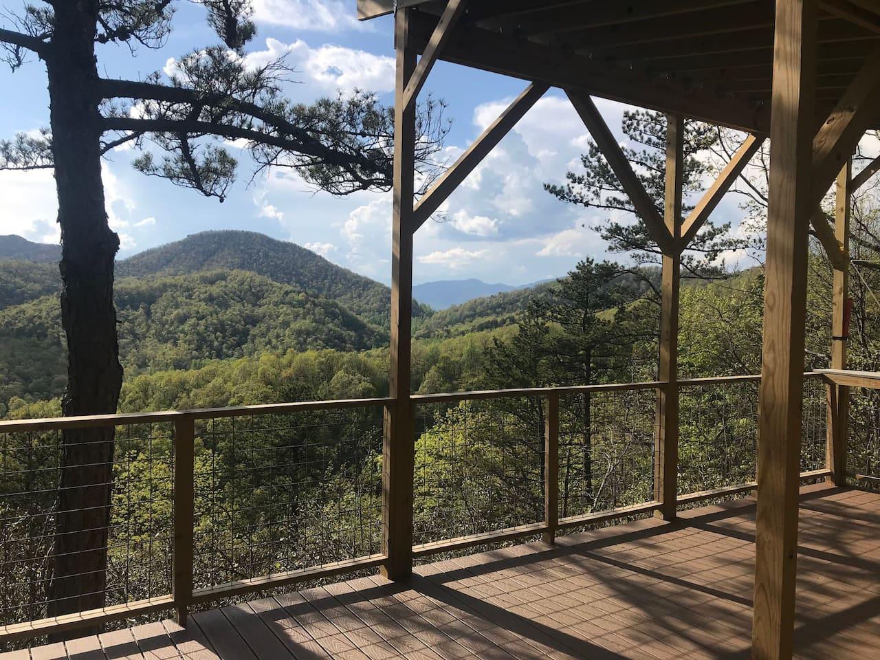 Glamping Deck Asheville North Carolina