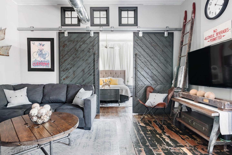 Loft Buchanan Modern Industrial Loft Apartment - Best Airbnb in Michigan