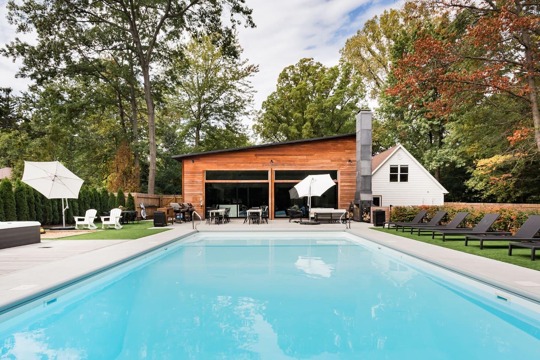 Luxury Airbnb Michigan Vacation Rental Swimming Pool