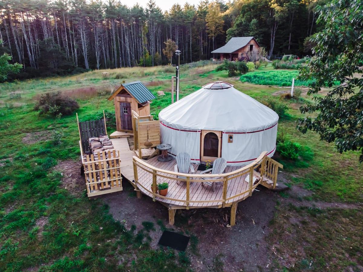 Luxury Yurt Glamping New England