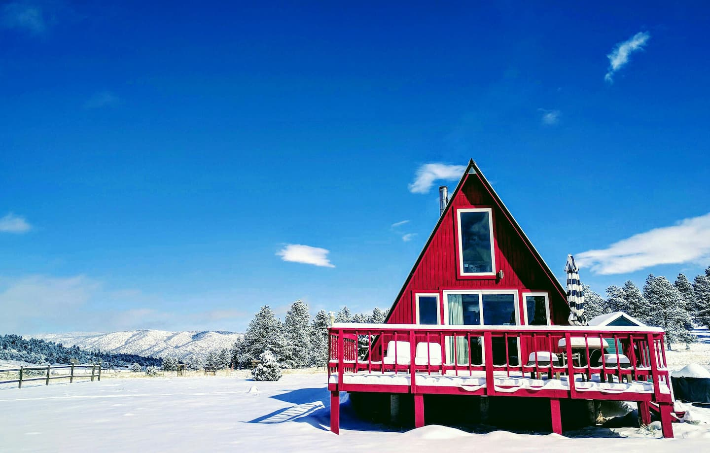 Off-Grid A-Frame Cabin-unique airbnb colorado