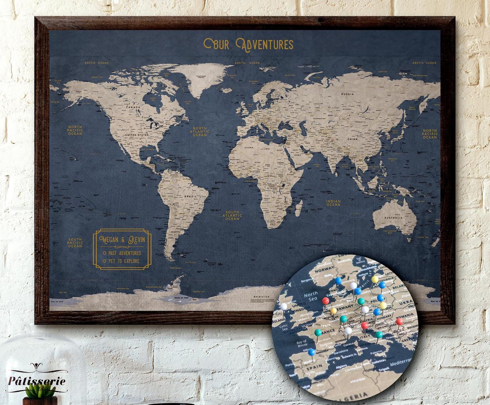 Push-Pin-Map-best travel-gifts-for-him