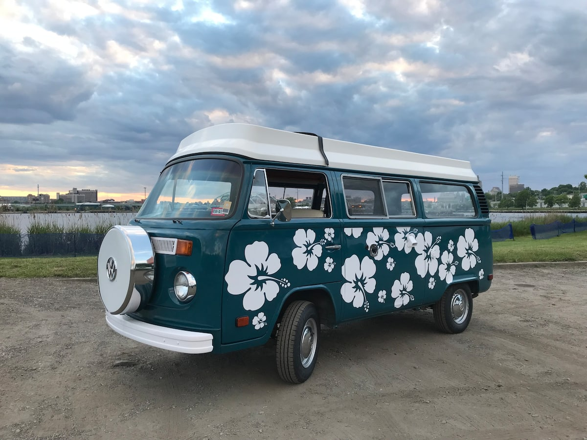 Restored VW Camper for New England Camping